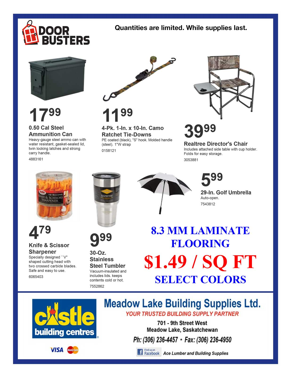 Sale Flyer Ace Lumber And Building Supplies Meadow Lake Sk